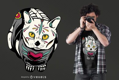 Dead Cat Day meowtos t-shirt design