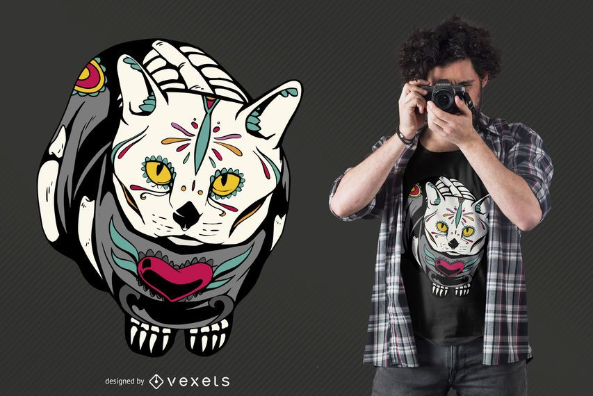 Diseño de camiseta de Dead Cat Day meowtos