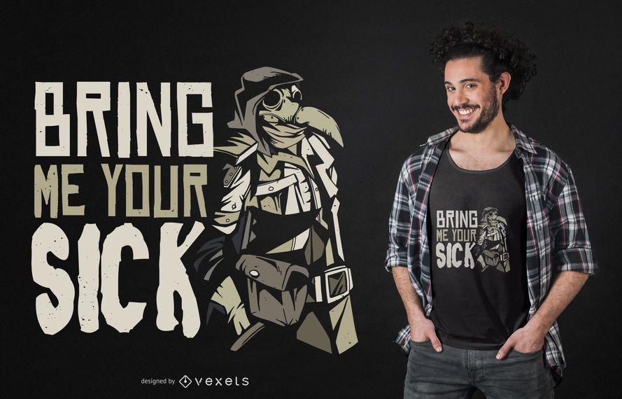 Plague Doctor Quote T-shirt Design