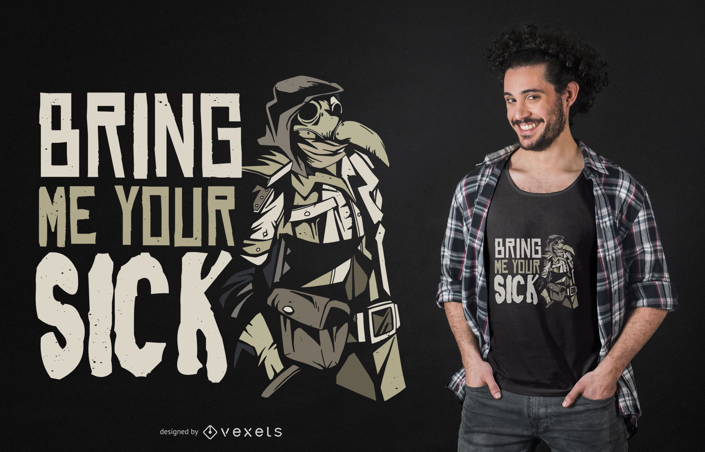 Diseño de camiseta Plague Doctor Quote