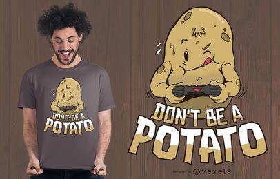 Diseño de camiseta de papa gamer