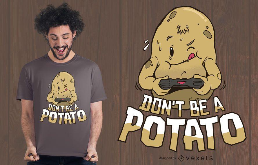 Design de t-shirt de batata de jogador