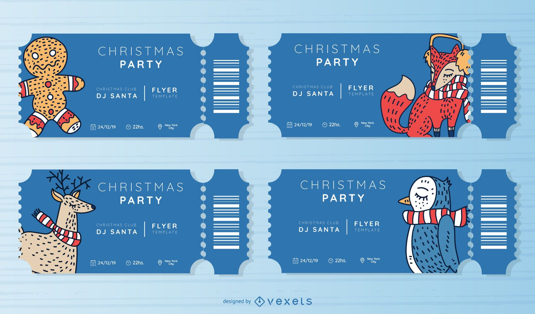Christmas party ticket set