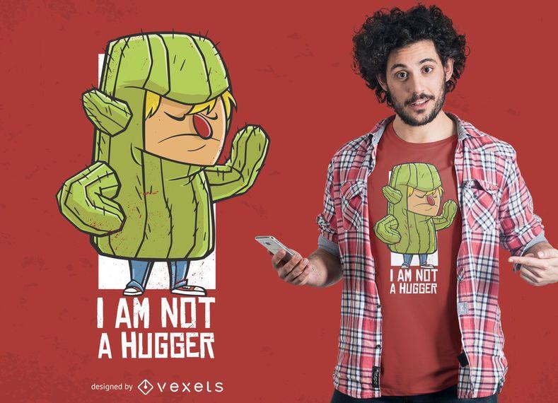 Kaktus Kostüm Hug T-Shirt Design