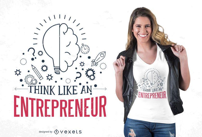 Design de t-shirt de citação de empresário
