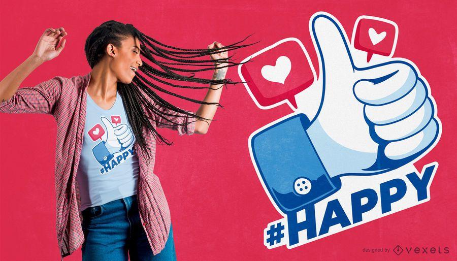 Las redes sociales tienen gusto de los diseños de la camiseta