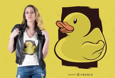 Design de t-shirt de pato de borracha