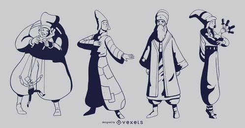Pack de personajes de personajes de circo
