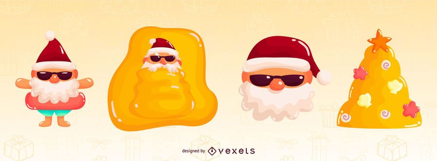 Tropical Christmas Glossy Element pack