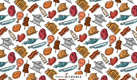 BBQ elements pattern design
