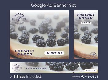 Bakery home made banner set