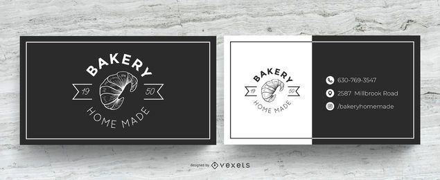 Cartão de visita caseiro de padaria