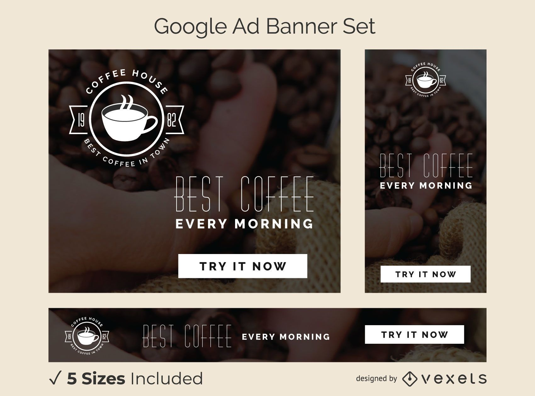 Coffee house ad banner set