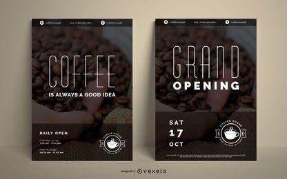 Kaffeehaus-Poster-Set