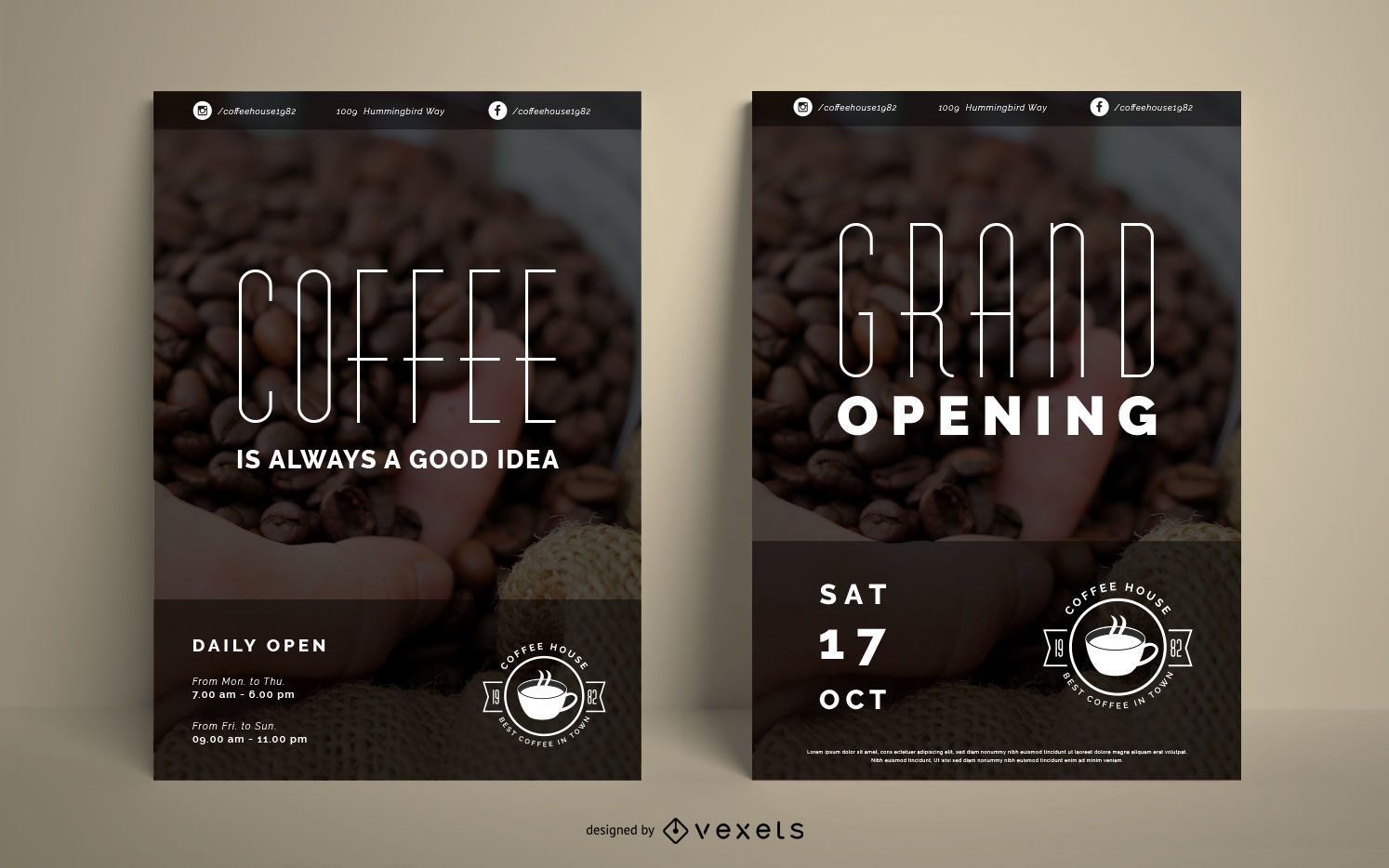 Coffee house poster set