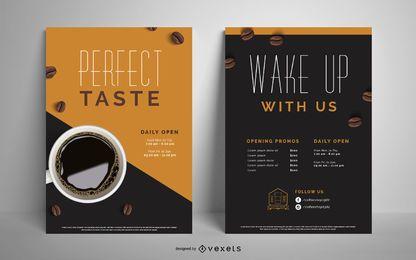 Conjunto de cartaz de café