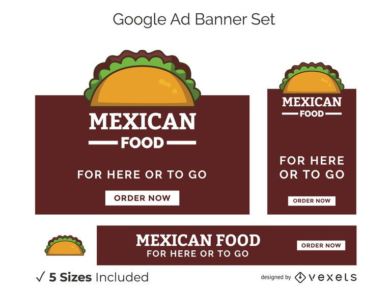 Mexican Food Google Ads Banner Set
