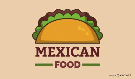 Design de banner de logotipo de comida mexicana