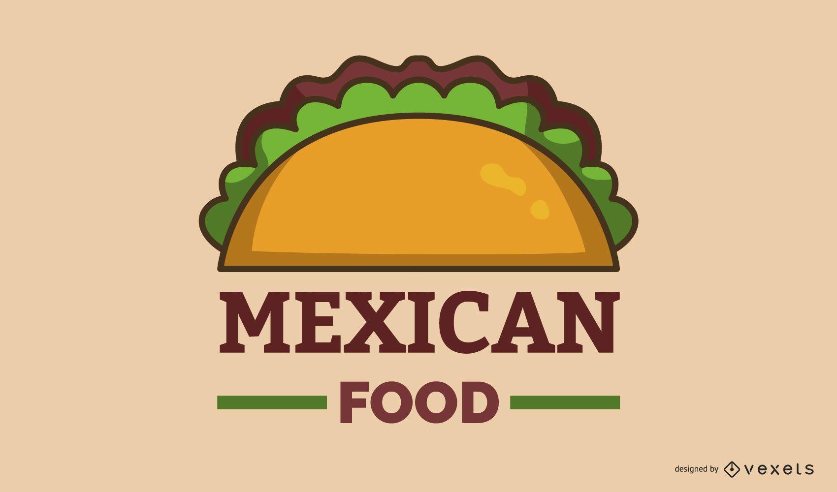 Diseño de banner de logotipo de comida mexicana