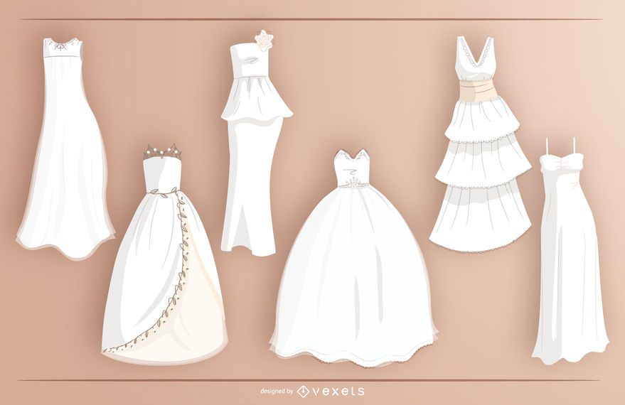 Bride White Wedding Dress Design Collection