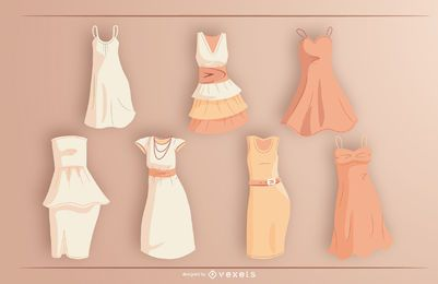 Kurzes Kleid Design Pack