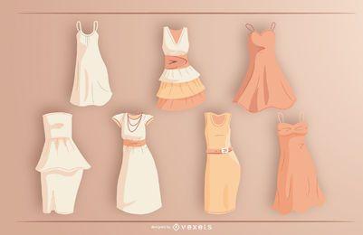Pacote de design de vestido curto