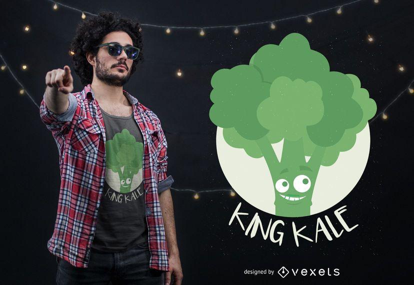 King Kale T-shirt Design