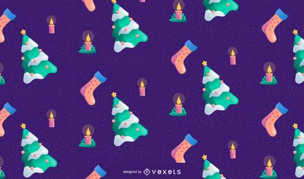 Christmas seamless pattern design