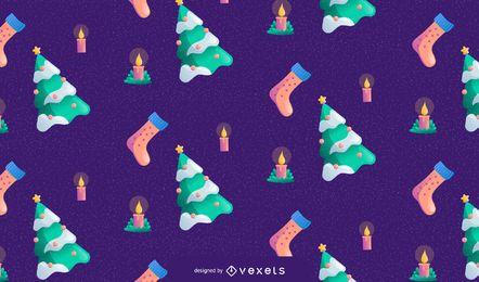 Weihnachtsnahtloses Musterdesign