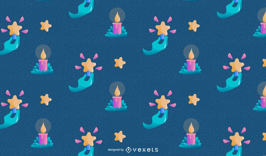 Christmas candles pattern design