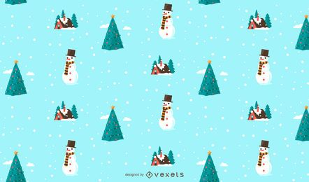 Christmas snow pattern design