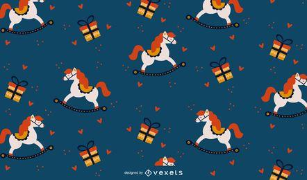 Diseño de patrón de regalos de navidad