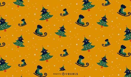 Design de padrão sem emenda de Natal