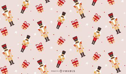 Desenho de padrão quebra-nozes de Natal