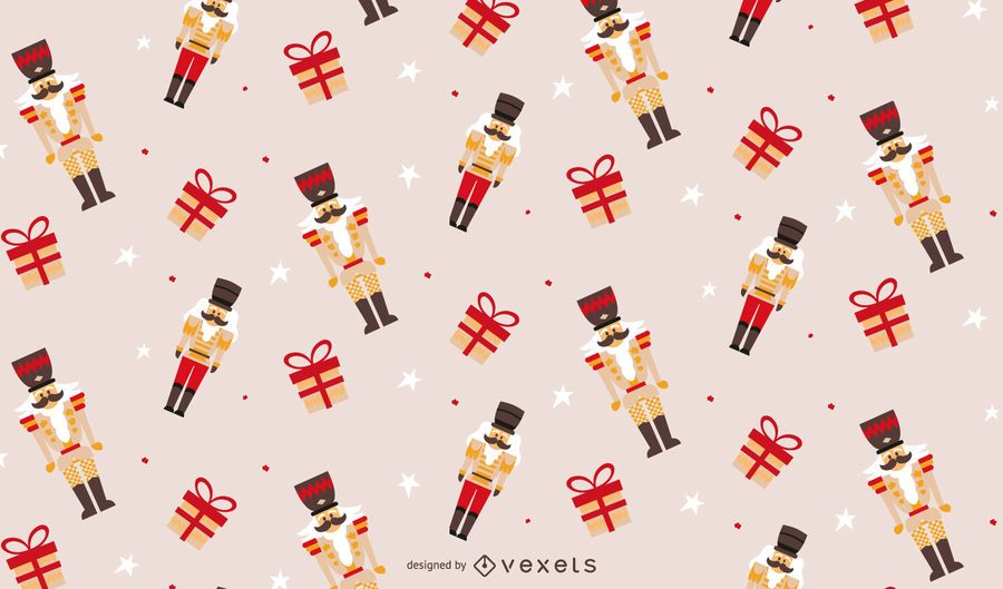 Christmas nutcracker pattern design