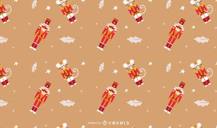 Nutcracker seamless pattern design