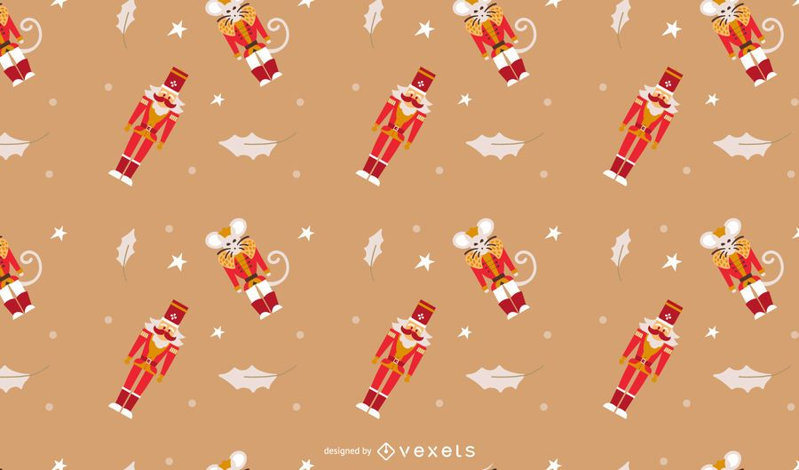 Nutcracker seamless pattern design