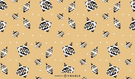 Design de padrão de bolas de Natal