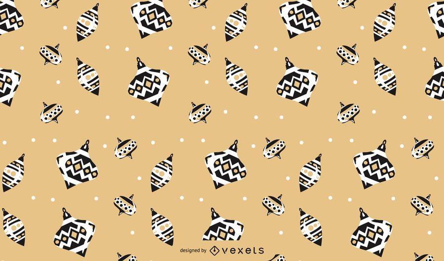 Diseño de patrón de bolas de navidad