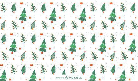 Weihnachtsbaum-Musterdesign