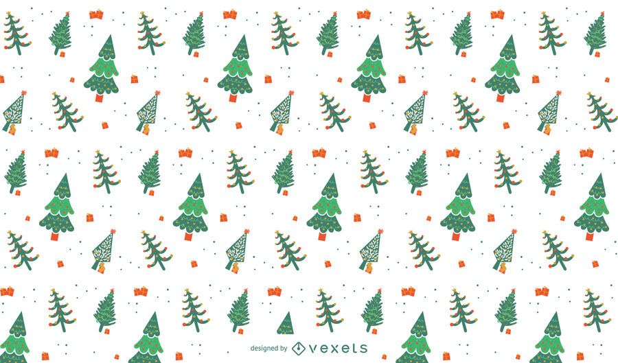 Christmas trees pattern design