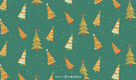 Diseño de patrón de árboles de Navidad