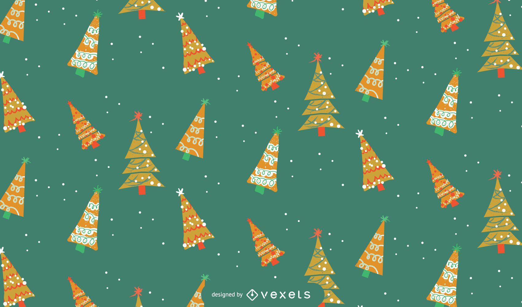 Projeto de padrão de árvores de Natal