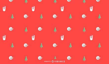 Patrón minimalista de navidad