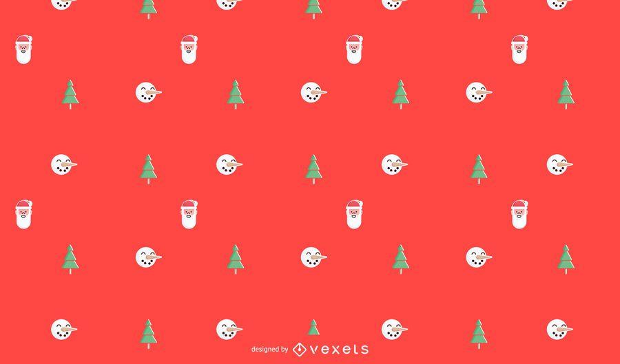 Christmas minimalist pattern