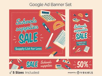Schulwerbung Google Ads Banner Set