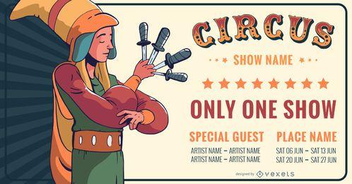 Banner de convite do circo