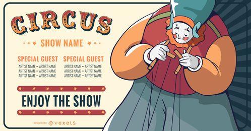 Diseño de banner de espectáculo de circo