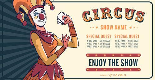 Zirkus Show bearbeitbare Banner Design