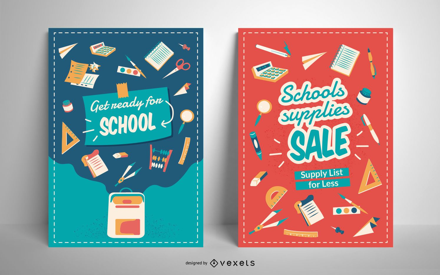School Supply Sale Poster Template